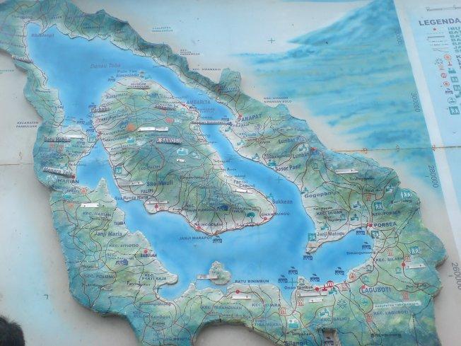 Samosir District's Map