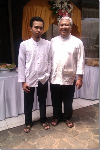 Foto Bersama Pak Loka setelah salaman