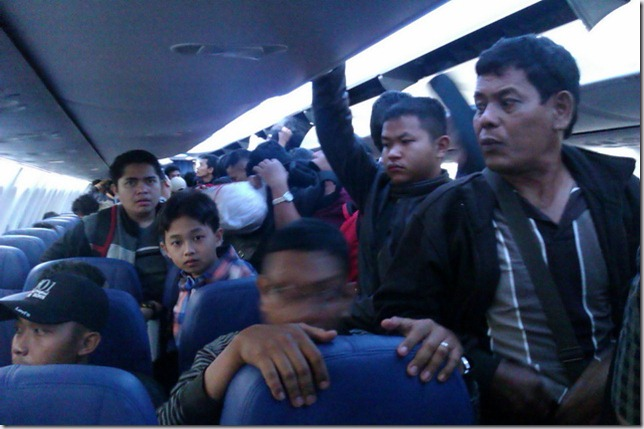 Suasana Dalam Pesawat