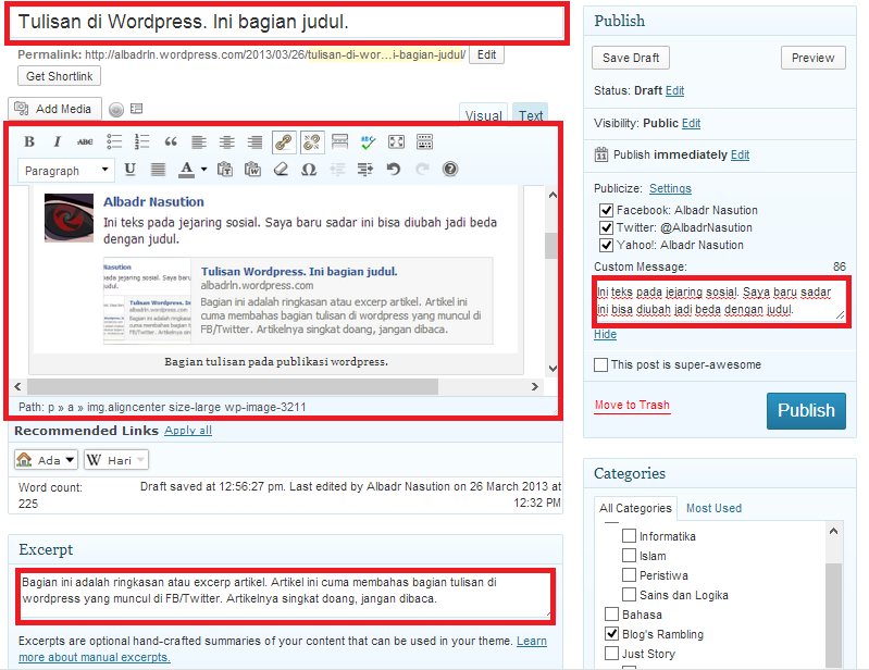 Jendela Penulisan WordPress