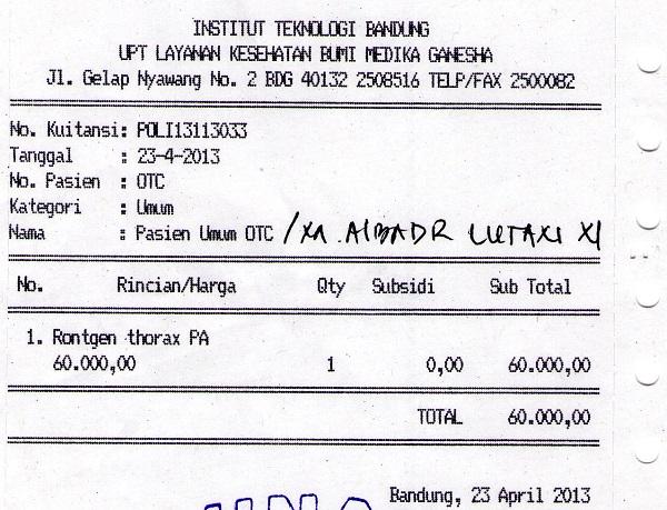 Invoice Rontgen Thorax Bu Mega