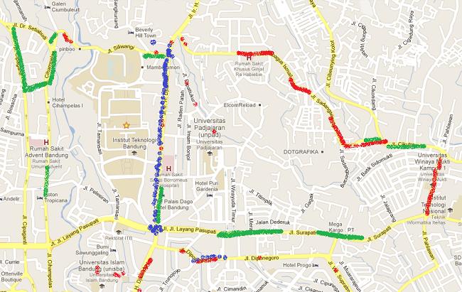 Peta Kerusakan Jalan (dll) di Bandung
