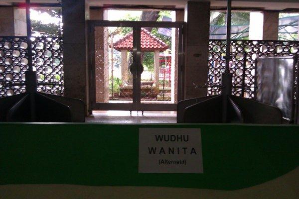 Lantai dasar - tempat wudhu wanita (alternatif)