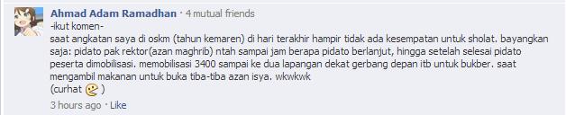 Komentar dari Ahmad Adam