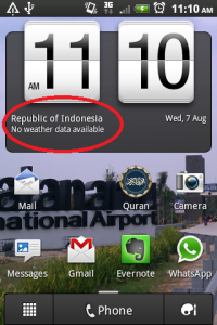 Lokasi saya adalah di Indonesia, WOW!