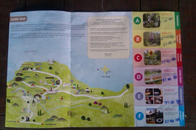 Peta, brosur, dan kupon