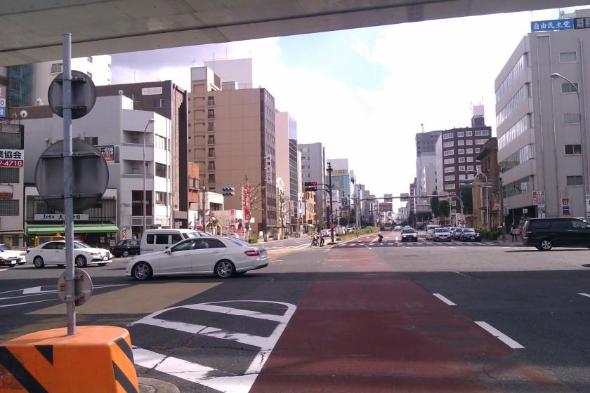 Salah satu perempatan di Nagoya