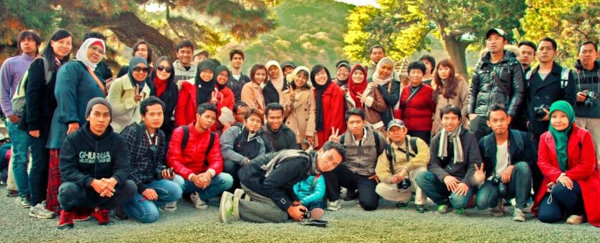 Rombongan Keluarga Indonesia (Plus) ke Arashiyama