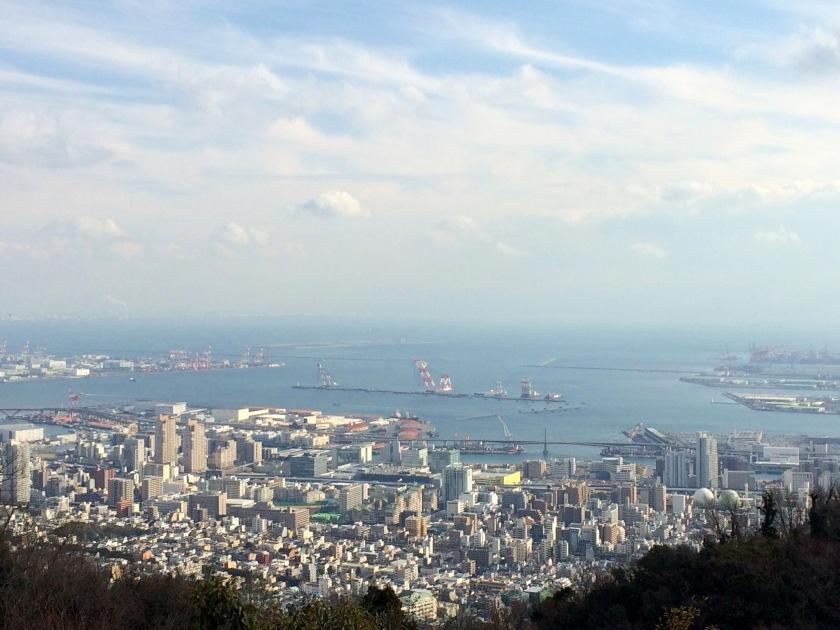 Pemandangan Kobe dari Gedung Atas Nunobiki Herb Garden