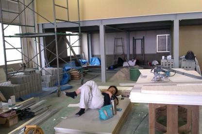 Tukang (orang Jepang) sedang istirahat