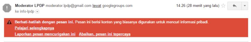 MilisLPDP dicurigai Google