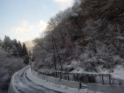 Perjalanan penuh es.