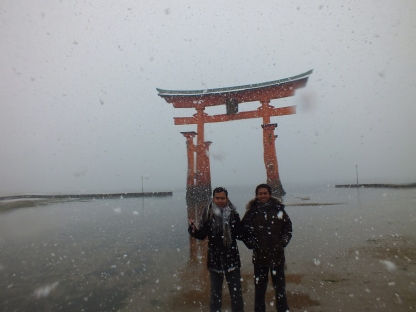 Saya dan sidik di Torii Miyajima