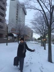 Salju dekat Tottori Station (4)