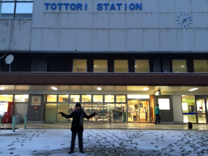 Salju dekat Tottori Station (5)